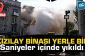 Hanlar Bölgesinde dönüşüm! Bursa'da 6 katlı bina böyle yıkıldı