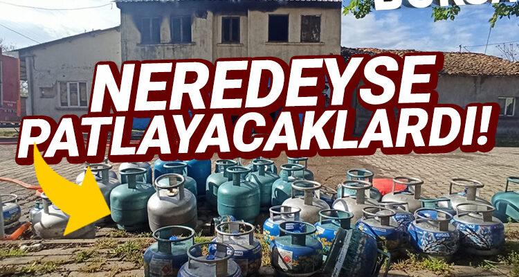 Bursa'da ev yangınında facia önlendi! Tüp dolu depo korkuttu