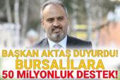 Bursa Büyükşehir'den 50 milyonluk destek paketi