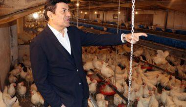 Coşkun Sabah tavuk çiftliğini açtı