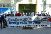 Bursa'da eğitim gören Filistinli öğrencilerden Kudüs için dua