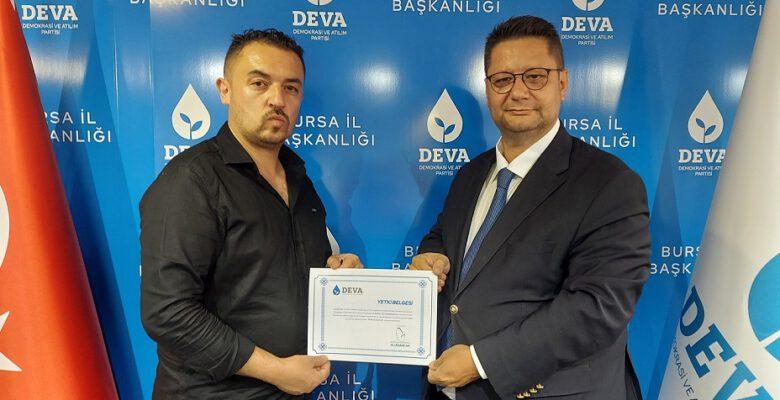 DEVA Partisi'nin Büyükorhan İlçe Başkanı belli oldu!