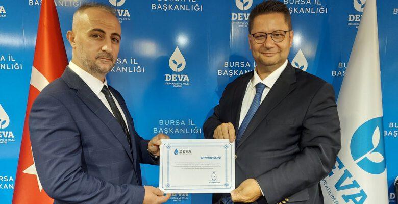 DEVA Partisi'nin Yıldırım İlçe Başkanı belli oldu!