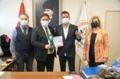 Balkan Şampiyonu Avukat Çokal, madalyasıyla Altun'u ziyaret etti