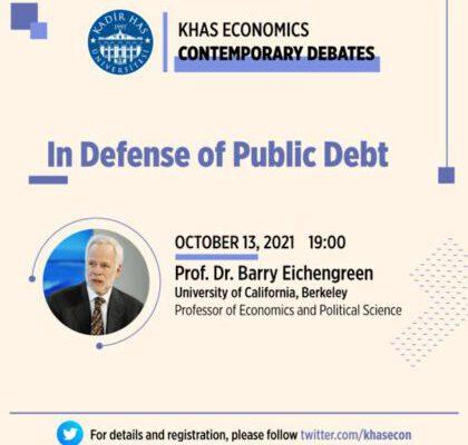 Ekonomide Güncel Tartışmalar / Contemporary Debates Konuşma Serisi 13 Ekim'de Başlıyor
