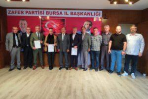 Zafer Partisi'nin Bursa'daki kurucu il yönetiminin A-Takımı belli oldu!